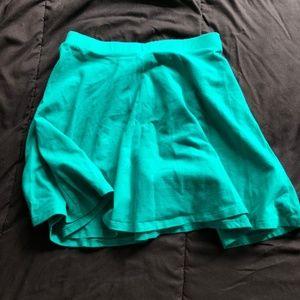Forever21 Teal Skater Skirt